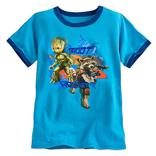 Marvel Groot and Rocket Ringer Tee for Boys - Guardians of The Galaxy Vol. 2 Size 7/8