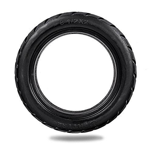 Lixada 8,5 Zoll Vorne/Hinten Scooter Reifen Rad Solide Ersatz Reifen Kompatibel mit Elektroroller Skateboard. (1 Stück)