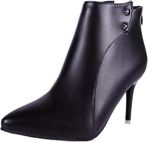 GTVERNH Chaussures Femmes Peu De Bottes Chaussures Chaussures Chaussures à Talons Hauts Les Talons DE 10 Cm Pointu Bottes De Nus Bottes Maman Dingxue. 1d1