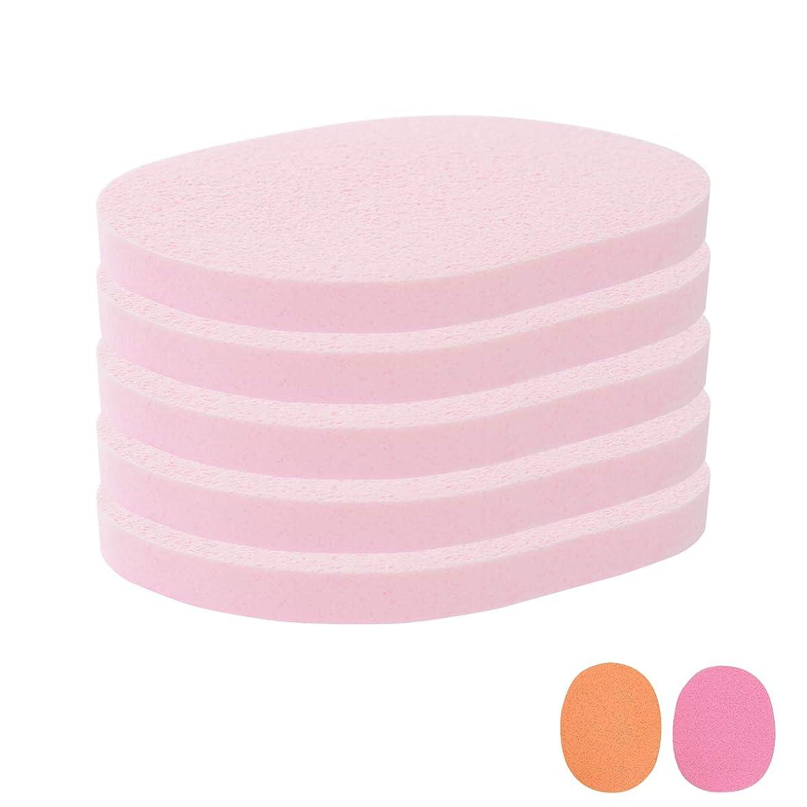 システムどこでも翻訳するフェイシャルスポンジ 全4種 10mm厚 (きめ粗い) 5枚入 ピンク [ フェイススポンジ マッサージスポンジ フェイシャル フェイス 顔用 洗顔 エステ スポンジ パフ クレンジング パック マスク 拭き取り ]