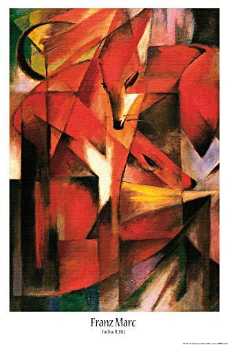1art1 Franz Marc - Füchse, 1913 Poster 91 x 61 cm