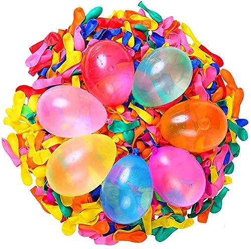 Ballon d'eau,Ballons de Bombes d'eau,1000 Pièces Bombes à Eau Bombes au Latex Jeu De Combat Aquatique Amusant pour Les Enfants et Les Adultes