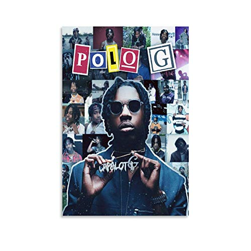 GADG Polo G Collage Rapper Canvas Art Poster and Wall Art Picture Print Modern Family Bedroom Decor...