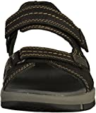 Clarks Herren Brixby Shore Riemchensandalen, Schwarz (Black Leather), 43 EU - 6