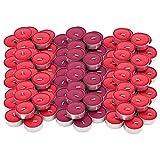 Ikea SINNLIG - Juego de 30 velas aromáticas de jardín rojo