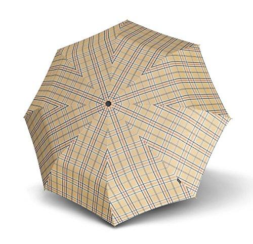 Knirps T2 Duomatic Regenschirm, one size, Karo braun, Länge ca. 28 cm, Durchmesser ca. 5 cm