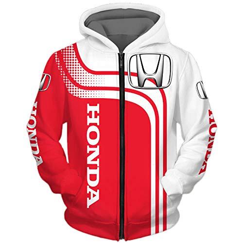 guonan 3D Voll Drucken Hoodies,Jacke,T-Shirt,Kurze-Hose Ho-Nd-A Herren Leicht Sweatshirt Unisex Beiläufig Fußball Sportkleidung Y/B/XXL