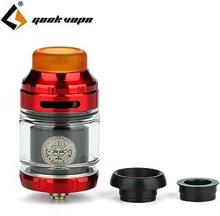 Vape Tank Geekvape Zeus X RTA Capacidad del tanque de 2 ml con plataforma de construcción de bobina simple/doble Vape Atomizador Rta VS Zeus Dual Sin nicotina, sin líquido E (Red&Black)