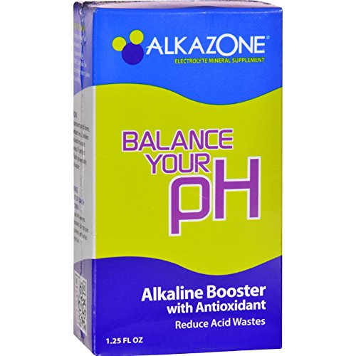4 Pack of AlkaZone Alkaline Booster Drops with Antioxidant - 1.2 fl oz - Gluten Free - Wheat Free - Vegan