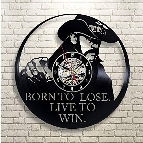 ZZNN Reloj de Pared de Vinilo Reloj de Pared de Vinilo Nuevo CD Reloj de Vinilo Relojes de Pared Novedad Diseño Moderno Tema Arte Reloj Reloj clásico 30 CMcjdfn2342