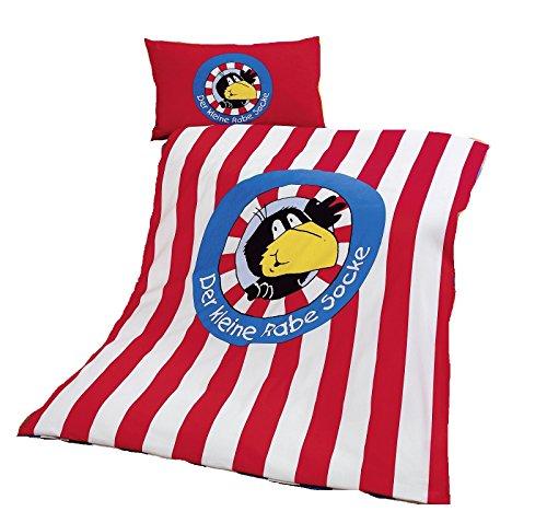 Global Labels G 70 600 RS1 100K Der Kleine Rabe Socke - Logo Kinderbettwäsche Renforcé 100 x 135 Bettbezug und 40 x 60 cm Kissenbezug