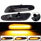 LED Luz de señalización de flujo lateral Luz indicadora de giro para B-MW 1 3 5 Series E60 E61 E81 E82 E88 E46 E90 E91 E92 E93 X3 E83 X1 E84