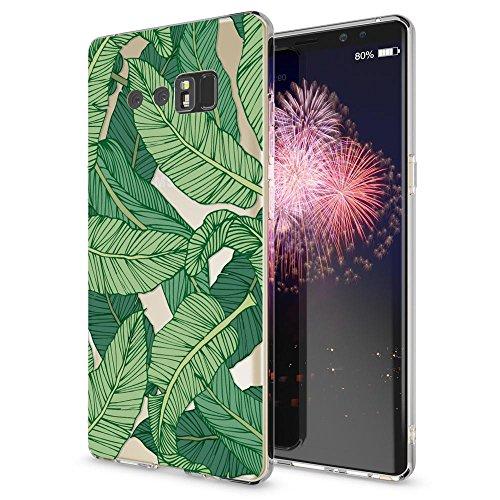 NALIA Handyhülle kompatibel mit Samsung Galaxy Note 8, Motiv Design Schutzhülle Ultra-Slim TPU Silikon Hülle Dünn, Muster Hülle Etui Handy-Tasche Schale Smart-Phone Back-Cover, Designs:Greenery