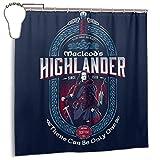 ngquzhe Rideau de Douche en Tissu de Polyester imperméable avec Rideaux, Crochets décoratifs, Impression de bière écossaise Macleods Highlander, 72 '' X 72