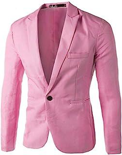 Zerototens Men Jacket - Charm Casual Slim Fit One Button Suit Blazer Coat Tops Fashion