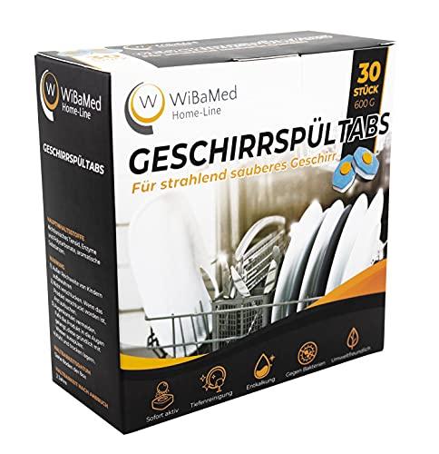 WiBaMed Home-Line - Pastillas para lavavajillas (5 paquetes de 30 unidades, 150 unidades)