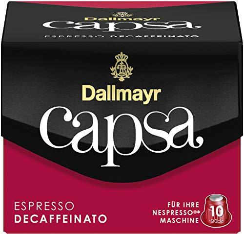 DALLMAYR Kapsel Capsa, ESPRESSO DECAFFEINATO, koffeinfrei, Kapsel (10 Stück), Sie erhalten 10 Packungen á 10 Stück