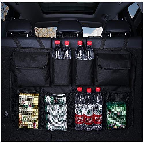 YOAI Kofferraum Organizer Auto Wasserdichtes Oxford-Tuch Kofferraumtasche Auto/Rücksitz Organizer/Auto Aufbewahrungstasche/Sitztasche Auto für Auto,SUV,Minivan,Truck (Schwarrz)