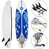 Giantex 6' Surfboard Surfing Surf Beach Ocean Body Foamie Board with Removable...