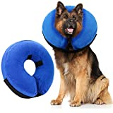 AhlsenL Inflatable Comfy Cone for Dogs Cats Protective Soft Pet Recovery Collar After Surgery Prevent Dogs from Biting & Scratching (XL)