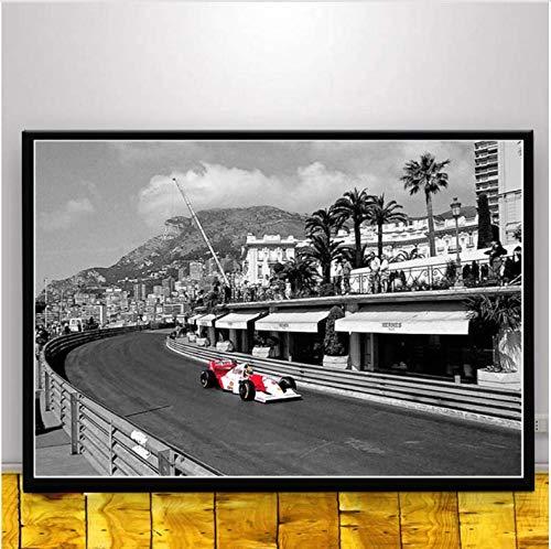 baiyinlongshop Cuadro En Lienzo Cuadro En Lienzo Pintura Ayrton Senna F1 Formula World Champion Wall Art Poster and Prints Modern For Home Room Decor 40X60Cm Sin Marco