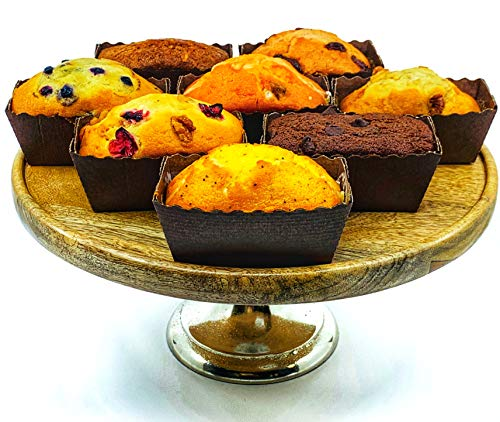The Baking Institute's Gourmet Fresh Baked Breakfast Bread Loafs - 4 oz - 8 Pack Bold Variety Mix Assortment - Individually Wrapped Desserts in Assorted Flavors - Banana, Blueberry, Cranberry Walnut, Lemon, Carrot, Orange, Chocolate Chip Date, Strawberry