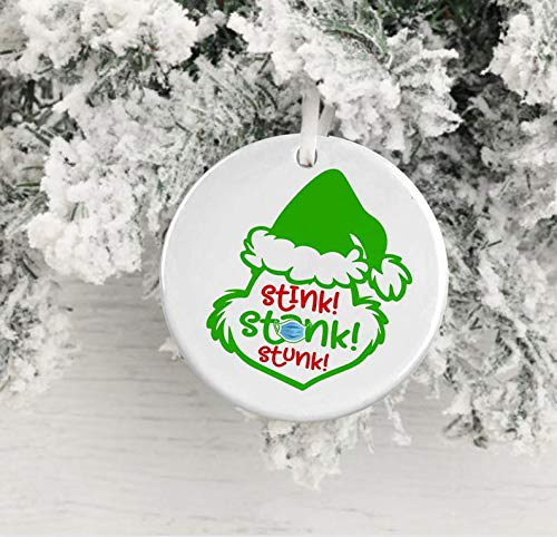 MugStink Stank Grinch OrnamentSocial Distancing Grinch 2020Christmas Gift 2020Pandemic GrinchGrinch Quarantine Ornament Gift 2020