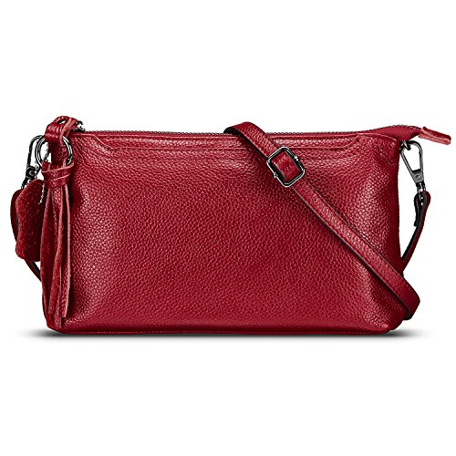 Lecxci Womens Small Leather Crossbody...