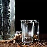 Relaxdays 6er Set Schnapsgläser, Pinnchen aus Glas, 4 cl, für Liköre, Kaffee, Karneval, spülmaschinenfest, transparent - 3