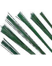 Stub Wire - zielone przewody kwiaciarskie - 9 cali (23 cm) - 24 rozmiar (9 cali - 24 Gauge - zielony)