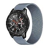 LLKHFA Cinturino da 20 mm 22mm per Samsung Galaxy Watch 46mm 42mm Gear S3 Geart Geart Geart 3 45mm 41mm Attivo 2 per Huawei GT 2 Band Bip AmazFit (Band Color : Gray, Band Width : 22mm)