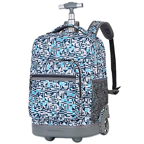 Rugzak voor laptop op wielen, 18-inch studentenlaptop rugzak voor middelbare school of hogeschool, rollend gamer laptop rugzak, op wielen zakelijke laptop rugzak, perfect voor op reis