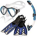 AQUAZON Marlin kit de plongée, kit de nage, kit de plongée sous-Marine, Lunettes de plongée avec...
