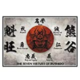 GUICAI Die Sieben Tugenden von Bushido Poster Japanische