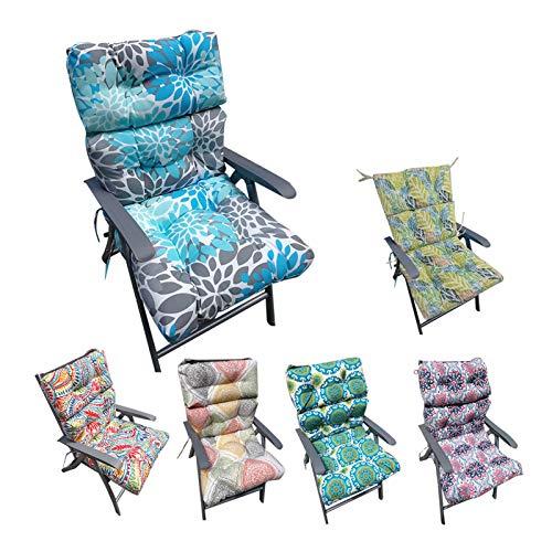 Cojines de Tumbona, 120 * 50 * 10 cm Bancos de algodón Crudo Cojines Patio Lounge Cojín Silla Larga Pad cojín reclinable de Patio (Color : B)
