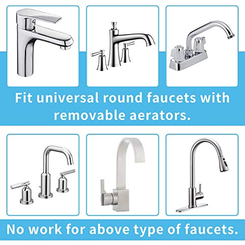 Sink Faucet Sprayer Hose Attachment - Faucet Extension Rinser for Bathtub Bathroom Kitchen Laundry Tub, w/ 360 Swivel Aerator, Faucet Diverter, 6.5ft Hose, 6-Spray Shower Head for Delta Moen
