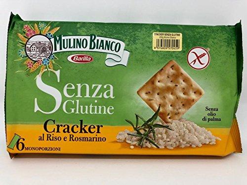3x Mulino Bianco Crackers Reis und Rosmarin glutenfrei Salzgebäck 200g gesalzen
