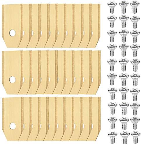 30 x Titan Messer Klingen Geeignet für alle Husqvarna® Automower®/Gardena® Mähroboter - (3g - 0,75mm) + Multifunktion Schraubendreher, Ersatzmesser Passend für 105, 310, 315, 320, 420, 430x, r40i uvm