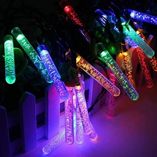 Volar 20 LED 0.6W 4.8M Multicolor burbuja carámbano luz hadas de la secuencia de la energía solar al aire libre jardín de la Navidad decoración de la lámpara del partido (Emisión de color: rojo) (Tama