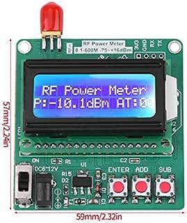 LCD Digital Wattmeter Volt Watt Power Ammeter Voltmeter RF Power Meter -75~16 dBm 1-600MHz Radio Frequency Attenuation Value