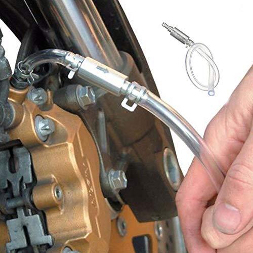 Zreal Kit de herramientas para tubos flexibles para purga del embrague del freno para la nueva moto para coche y válvula
