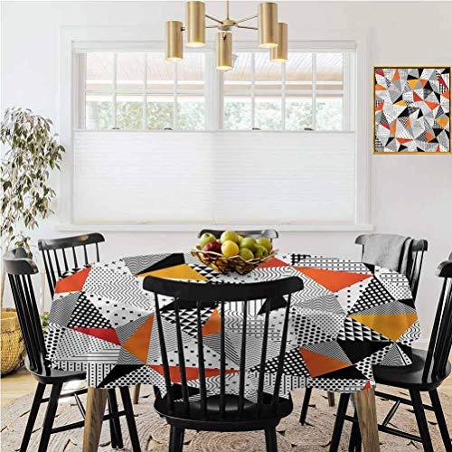 Ronde tafelkleed, zomer tafelkleed decoratie, abstract, veelhoekig ontwerp vliegtuigen bruiloft diner, enz., Diameter 62
