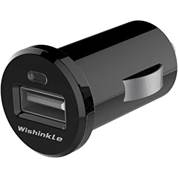 Wishinkle UL Certified USB Car Charger, 12W/2.4A Fast Car Charger Mini Cigarette Lighter USB Charger Compatible with iPhone 11/11 pro/XR/X/XS, Samsung Note 9/Galaxy S10/S9/S8 and More