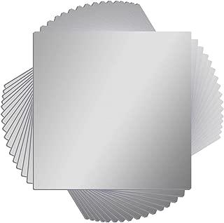16 Pcs Flexible Non Glass Acrylic Mirror Sheet Tiles Self Adhesive Plastic Wall Stickers Mirror for Bathroom Wall DIY Decor 6 X 6 Inch Each