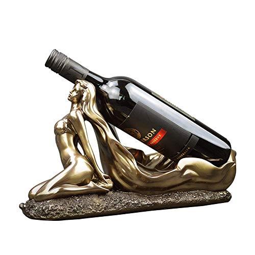 YAeele Forma de la Belleza de Bronce Resaca Soporte del Vino Vino de Escritorio Cocina Barra del pórtico Retro de la Personalidad Creativa Adornos de la Sala de Estar decoración Elegante y Hermoso de