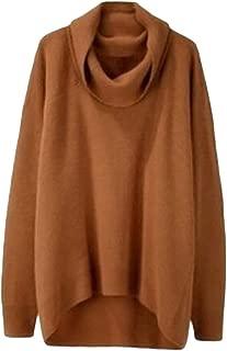 LEKODE Women's Sweatshirt Fashion Solid Turtleneck Long Sleeve Sweater