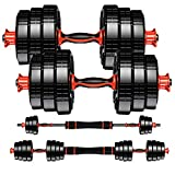 Weights Dumbbells Set Exercise Equipment - 2 x 22lbs Adjustable Dumbbells for Weight Lifting - Elite...