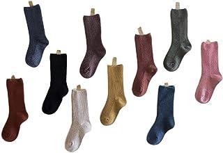 DaiHan, 10 Pares Calcetines de Punto de Medias de Algodón Calcetines Térmicos Invierno para Bebé Niños Niñas