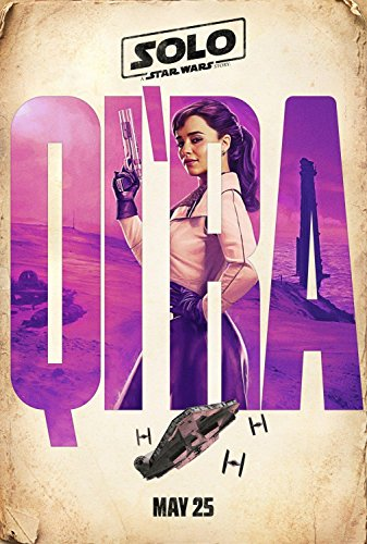 Solo A Star Wars Story Qi'ra Emilia Clarke Original Double Sided Rolled 27x40 Movie Poster 2018