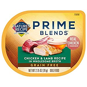 Nature's Recipe Prime Blends Wet Dog Food, Chicken & Lamb Recipe, 2.75 Ounce Cup (Pack of 12)